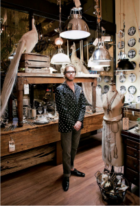 STYLE COUNSEL Gabriel Mastin at the Short North design shop Collier West.